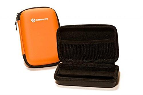 Case4Life Orange stoßfest Externe Festplattentaschen (2,5 Zoll 6,35cm) für Toshiba Canvio Basics/Ready 500 GB 1TB 1.5 TB 2 TB 3 TB