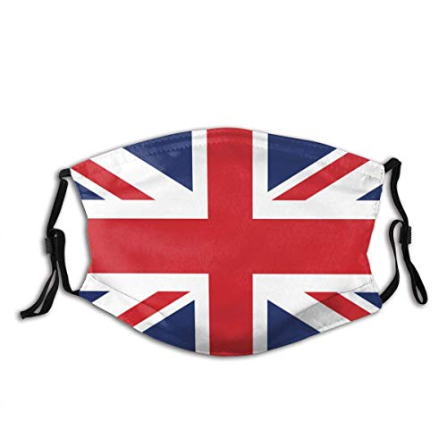Face mask reusable Vector Image British Flag Dust Washable Reusable Filter and Reusable Mouth Warm Windproof Made in USA
