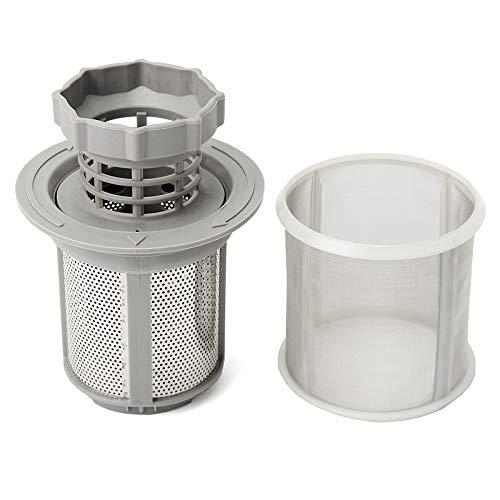 YJZCL 2-teiliges Spülmaschinen-Mesh-Filter-Kit Grauer Innenfilter zum Austausch von Spülmaschinenteilen