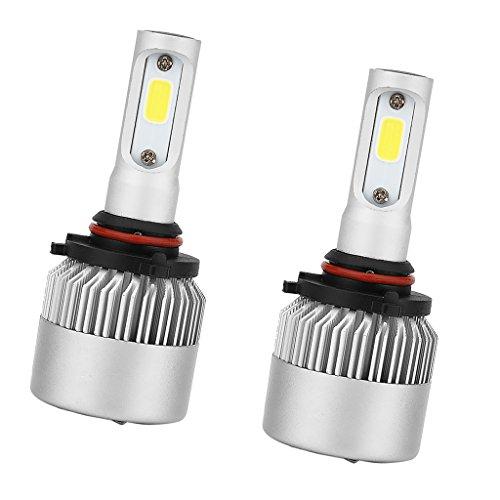 MagiDeal 2X Ampoule Phare Avant Headlight Kit 6000K Blanc Bulb LED de Voiture HB4 72W