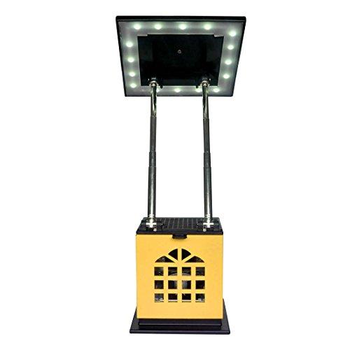 HLC® Tragbare Tea Kerzen-Leuchte Schreibtischlampe mit Akku 2004 mAh Power Bank Ladegerät zum Aufladen von Smartphones und Tablet,mobil aufladbare LED Tischlampe auch als Kerzenständer ersetztbar, Gelb