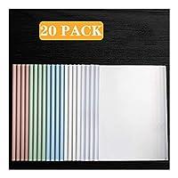 ビジネスクリップボード 20パックスライドバーをクリアレポートカバー、A4サイズ用紙(60シート容量)のための透明再開プレゼンテーションファイルフォルダーオーガナイザーバインダー 事務用品 (Color : B)