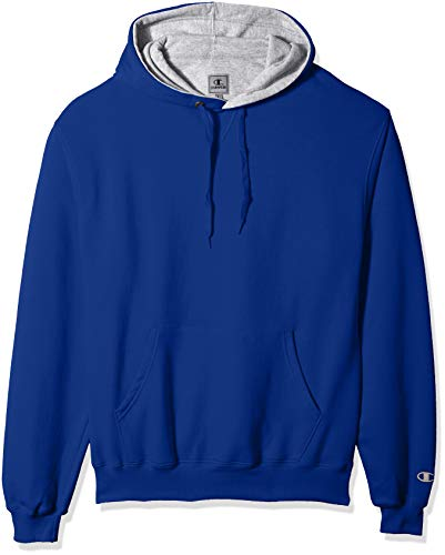 Champion Men's Cotton MAX Pullover Hoodie, Athletic Royal, Large