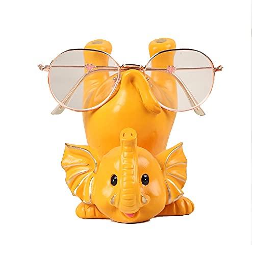 Soporte para Anteojos De Resina con Forma De Elefante Al Revés, Gafas De Sol Talladas A Mano, Soporte para Gafas De Lectura para Niños, Regalo De Oficina En Casa (13X10cm),02