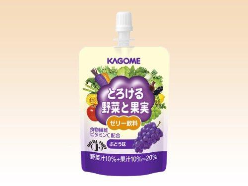 とろける野菜と果実ゼリー飲料 ぶどう味 80g 【1パック】