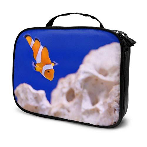 Anemone Tier Aquarium Clownfisch Marine Ocean Travel Männer Kulturbeutel Große Kosmetiktasche Für Frauen Dame Kosmetiktasche Multifunktions Gedruckt Beutel Für Frauen