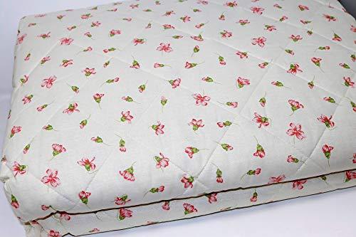 Colcha acolchada/Quilt matrimonial entretiempo de puro algodón título 30 Relleno 100 gr/m2 hipoalergénico GF Ferrari Art. Serie Cotton 270 x 270 cm (Dis. 02A Rosa)