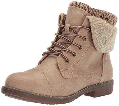 CLIFFS BY WHITE MOUNTAIN Women's Duena Hiking Style Boot, Natural/Fabric, 8 M