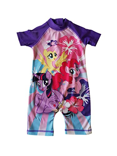 zwemmen zon veilige bescherming UV pak 50+ mijn kleine pony meisjes zwemmen pak alles in een