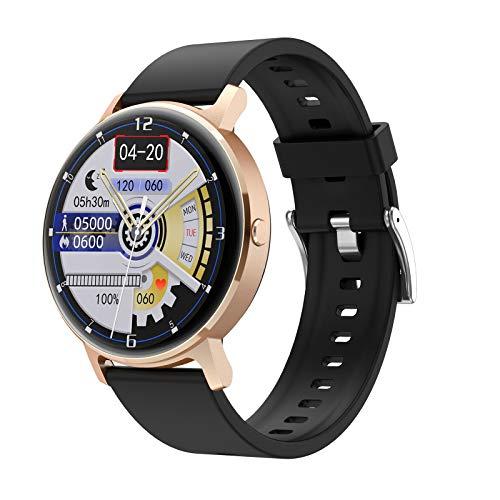 ZYY LG16 Bluetooth Call Music SmartWatch Music Play Detección de Ritmo cardíaco IP67 Reloj Impermeable para Android iOS Reloj Deportivo,A
