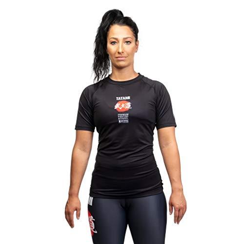 Tatami Fightwear Women Rash Guard Bushido Camisa de Compresión Mujer Fitness No Gi Yoga Workout Gimnasio MMA (L)