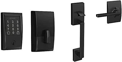 Schlage Lock Company BE489WB CEN 622 Schlage Encode Smart WiFi Deadbolt with Century Trim in Matte Black, Lock & FE285 622...