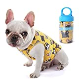 AZLZM Cute Fashion French Bulldog Summer Cooling T-Shirt Outdoor Vest Pet Clothes Dogs Pets Clothing Cat Dog Apparel Pug Costume,Yellow,XL
