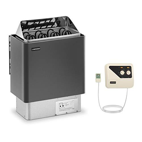 Uniprodo UNI_SAUNA_G6.0KW-SET-2 Set Saunaofen mit Saunasteuerung 6 kW 30 bis 110 °C