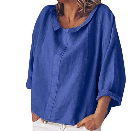 Damen Basic V-Ausschnitt Kurzarm T-Shirt Falten Tops mit Knopf