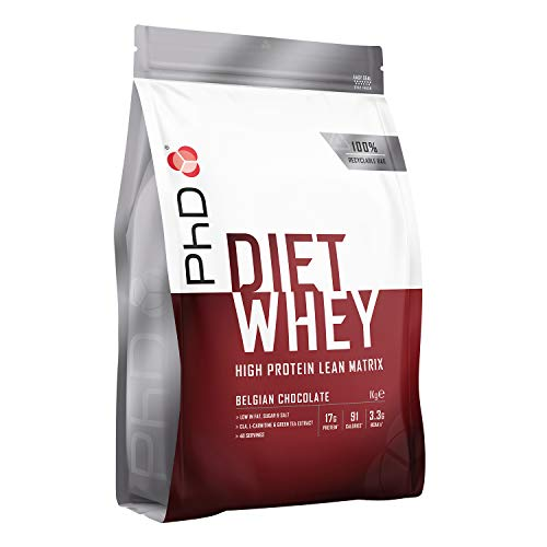 PhD Nutrition Diet Whey Protein Powder, 1 kg, Belgian Chocolate