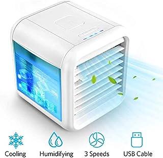 BLSM General Enfriador de Aire Personal: acondicionador de Aire portátil? Ventilador de Escritorio USB de 3 velocidades, humidificador de Aire de enfriamiento por Aire evaporativo