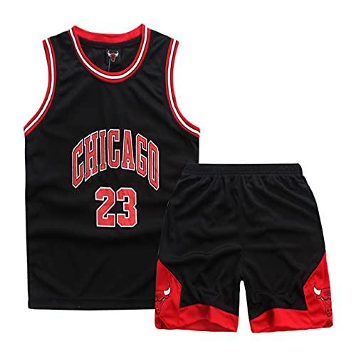 THZCMY # 23 Jordan Bulls Camiseta de Baloncesto para Niños, Chaleco Deportivo Retro Sin Mangas para Niños y Niñas, Kits de Ropa Deportiva de Verano de Secado Rápido Que Absorben la Humedad