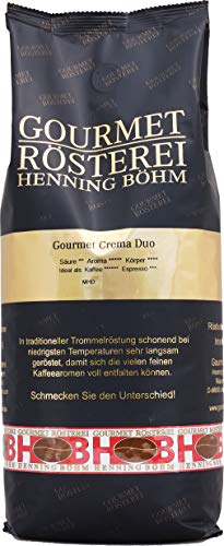 Gourmet Rösterei Henning Böhm Gourmet Crema Duo, ganze Bohne, 1000 g