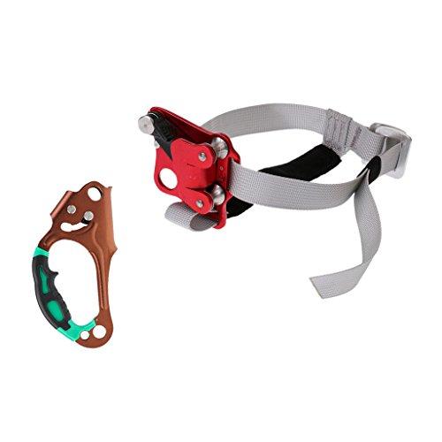 CUTICATE 1 Set Klettern Seilklemme Kletterseil Sicherheitsgerät mit Steigklemme Outdoor Handsteigklemme