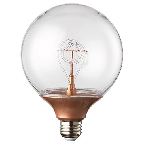 IKEA NITTIO 00322675 LED電球 E26 球形 コッパーカラーの写真