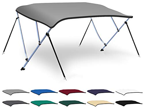 Affordable XGEAR 3-4 Bow Bimini Top Boat Cover with 4 Straps, Mounting Hardwares and Storage Boot, F...