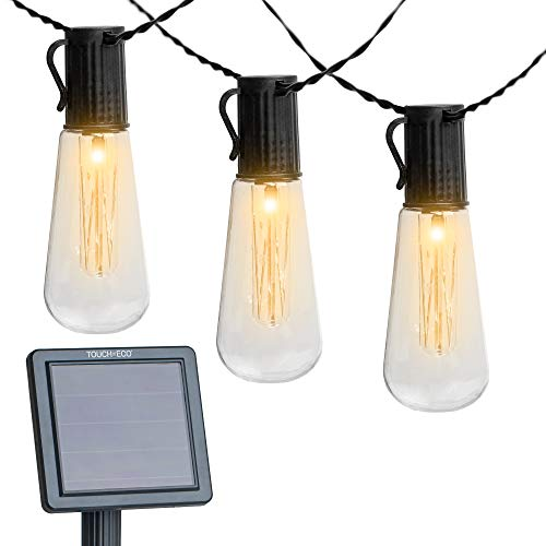 Touch of ECO Luminites - Solar Powered Tube Edison Lights (TOE190)