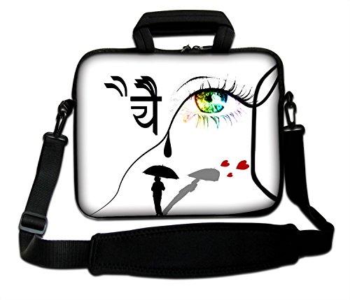 '10'-17.6pulgadas Bolso bandolera caja Funda calcetín para Apple MacBooks 11' 13'MacBook Air, 13' 15'17' MacBook Pro, MacBook Pro Retina, PowerBook G3G4, iBook, Aluminum Unibody, Core 2Duo etc. blanda con asa. Varios tamaños y diseños disponibles. (parte 1de 3) ojos y lágrimas 13' (250 x 330 mm)
