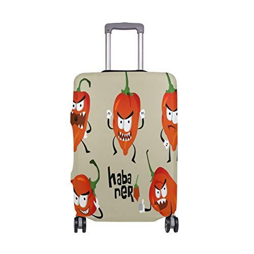 ALINLO Funny Chili Habaner maleta equipaje maleta de viaje protector para 18 – 32 pulgadas