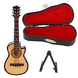 Modèle de guitare miniature, tilleul et métal Modèle de guitare électrique miniature Un excellent cadeau pour vos amis ou votre famille Portable et facile à transporter(Guitare en coupe 10cm)