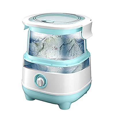 Save Water & Energy Foldable Mini Washing Machine and Dryer, Portable 10Min Fast Washer and 3Mins Spin Dryer for Shirts/Underwear/Infant Clothes/Socks, 6.6LB (3KG) Load
