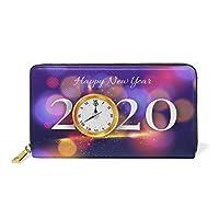 新年あけましておめでとうございます2020時計本革ファスナー財布レディース真皮のウォレット携帯電話を置くのに適している