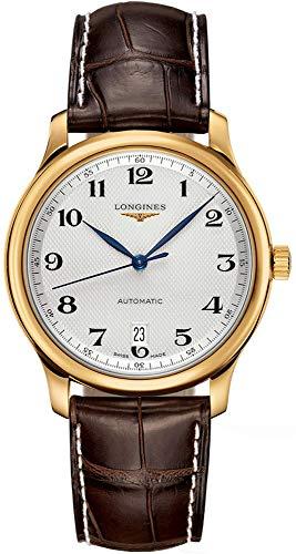 Longines Horloges - Longines Master Collectie in 18K Goud Automatische Transparante Case Back Heren Horloge