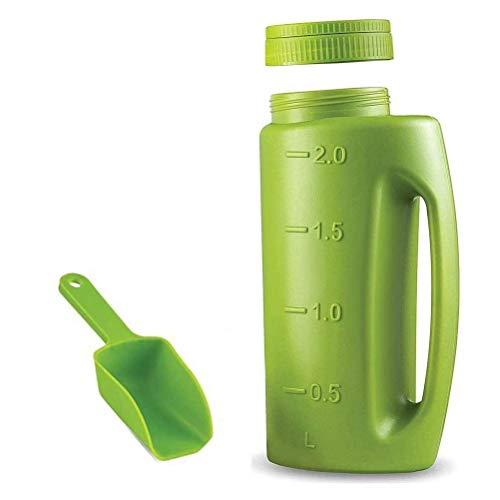 T.Y.G.F Spandiconcime manuale da 2 litri, dimensioni di apertura regolabili, spargitore manuale Agitatore Fertilizzante Spargisale Spargitore di semi di erba Contenitore da giardino in plastica