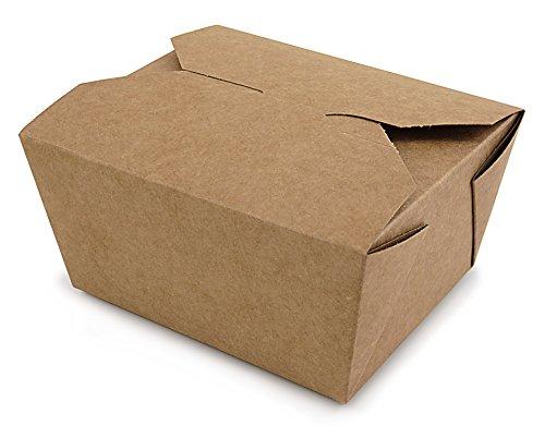 10 BRAUNE BOXEN (Take Away Boxen/Speiseboxen/Geschenkboxen/Muffin Box/Gift Box/Faltdeckel/Innenbeschichtung aus Bio-Wachs / 100% biologisch abbaubar / 600ml rechteckig) …
