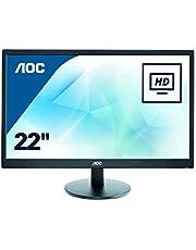 AOC E2270SWDN - 22 Inch FHD Monitor, 60 Hz, TN, 5ms, Tilt, Multimedia Monitor (1920 x 1080 @ 60 Hz, TN, 5ms, DVI/VGA)