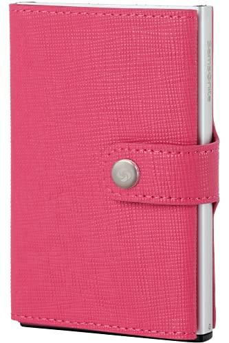 Cartera Samsonite | Piel Premium ALU FITl | Slide-UP Case | Protector RFID Y NFC (Rosa Fucsia)