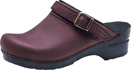 Dansko Women's Ingrid Antique Brown/Blk Mule 6.5-7 M US