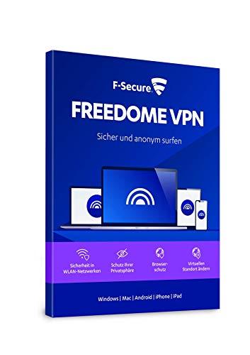 F-Secure FREEDOME VPN - 1 Jahr / 3 Geräte für Multi-Plattform (PC, Mac, Android und iOS) [Online Code]