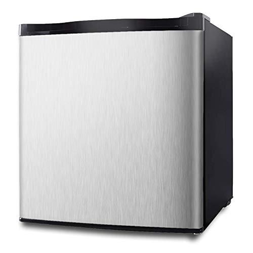 Northair Stainless Steel Upright Freezer - 1.1 Cu Ft with Removable Shelf - Reversible Door Hinge and Adjustable Feet - Quiet Mini Freezer