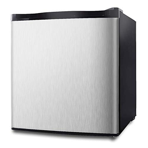 White Kitchen and Bedroom Super Quiet Mini Fridge with Removable Shelves for Living Room ELECWISH 1.1 cubic feet Mini Refrigerator Energy Star Upright Freezer Single Reversible Door