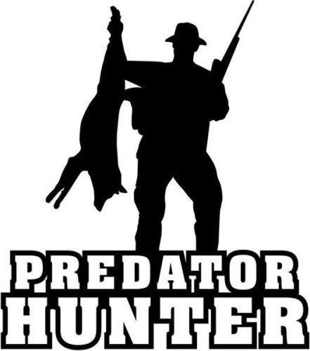 Predator Hunter Hunting Sportsman Vinyl Graphic Car Truck Windows Decal Sticker - Die cut vinyl decal for windows, cars, trucks, tool boxes, laptops, MacBook - virtually any hard, smooth surface