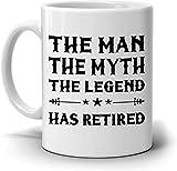 Leonat L'homme Le mythe La légende s'est retirée du café, parfaite pour une fête de la retraite, hommes, femmes, cadeaux pour elle, son père, sa mère, son épouse, son mari ou un ami, imprimée des deux