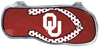 Craftique Oklahoma Sooners Flip Flop Car Tag