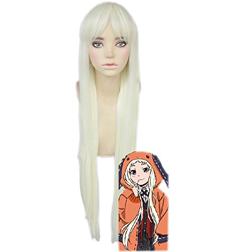 magic acgn Runa Straight Long Length: 39 inch Party Game Hair Anime Cosplay Wig Halloween Wig