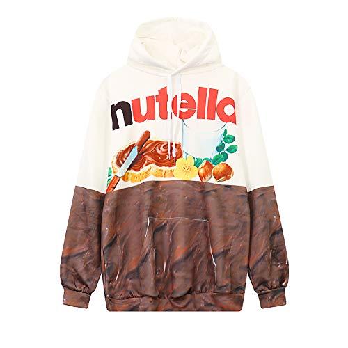 HOSD Otoño Estampado de donas de Chocolate con Bolsillo suéter de Mujer Mujer