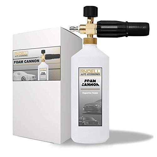 Rydell Auto Accessories Professional Foam Cannon 1 Liter Bottle Snow Foam Lance Designed to Last Foam Blaster for Pressure Washer Gun