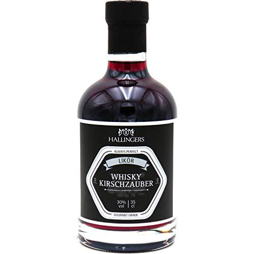 Hallingers Premium Kirsch-Whiskey (350ml) - Whisky Kirschzauber 30% vol. (Exklusivflasche) - zu Passt immer Für Sie Für Ihn