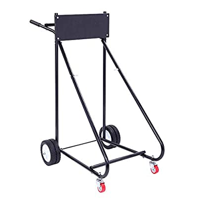 TUFFIOM Outboard Boat Motor Stand, Engine Carrier Cart Dolly for Storage, 315lbs Weight Capacity, w/Wheels from TUFFIOM