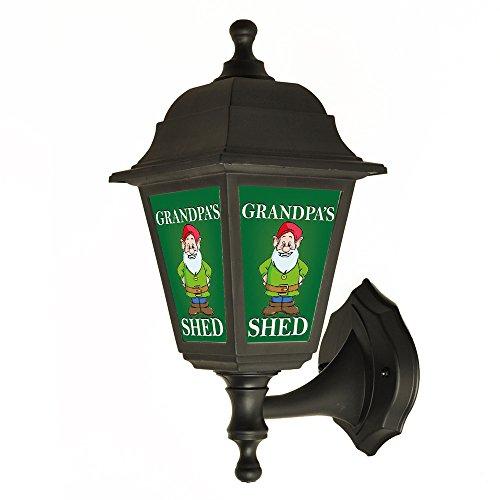 Grandpa's Shed Back lit Sign Outside Wall Light - Lantern - Lamp - Sign Light Choose you Title Grandpa's Grandad's Pop's Papa's shed